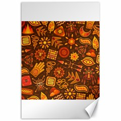 Pattern Background Ethnic Tribal Canvas 24  X 36  by Nexatart