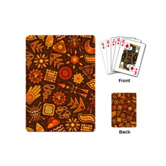 Pattern Background Ethnic Tribal Playing Cards (mini)  by Nexatart
