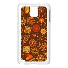 Pattern Background Ethnic Tribal Samsung Galaxy Note 3 N9005 Case (white)