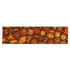 Pattern Background Ethnic Tribal Satin Scarf (oblong)