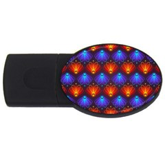 Background Colorful Abstract Usb Flash Drive Oval (2 Gb)