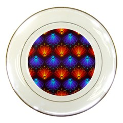 Background Colorful Abstract Porcelain Plates