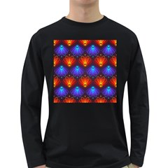 Background Colorful Abstract Long Sleeve Dark T Shirts