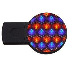 Background Colorful Abstract Usb Flash Drive Round (4 Gb)