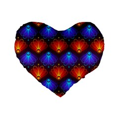 Background Colorful Abstract Standard 16  Premium Heart Shape Cushions