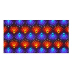 Background Colorful Abstract Satin Shawl