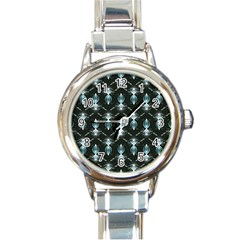 Seamless Pattern Background Round Italian Charm Watch by Nexatart