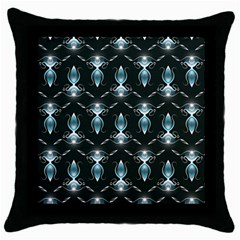 Seamless Pattern Background Throw Pillow Case (black)