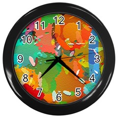 Background Colorful Abstract Wall Clocks (black)