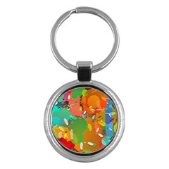 Background Colorful Abstract Key Chains (round)