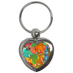 Background Colorful Abstract Key Chains (heart)