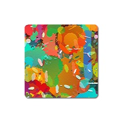 Background Colorful Abstract Square Magnet