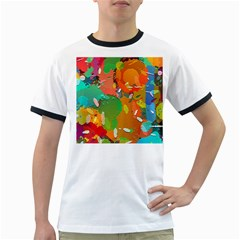 Background Colorful Abstract Ringer T Shirts