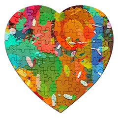 Background Colorful Abstract Jigsaw Puzzle (heart)