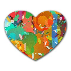 Background Colorful Abstract Heart Mousepads
