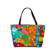 Background Colorful Abstract Shoulder Handbags
