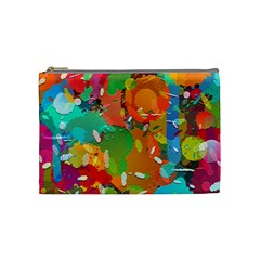 Background Colorful Abstract Cosmetic Bag (medium)