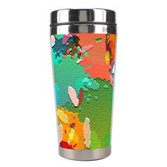 Background Colorful Abstract Stainless Steel Travel Tumblers by Nexatart