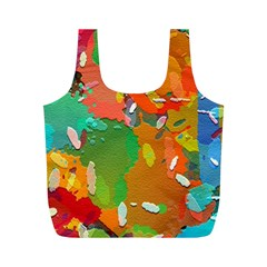 Background Colorful Abstract Full Print Recycle Bags (m)