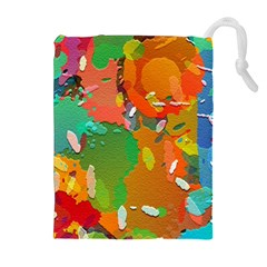 Background Colorful Abstract Drawstring Pouches (extra Large)