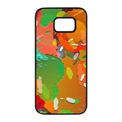 Background Colorful Abstract Samsung Galaxy S7 Edge Black Seamless Case