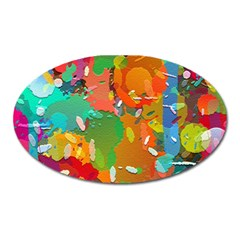 Background Colorful Abstract Oval Magnet