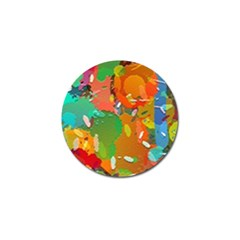 Background Colorful Abstract Golf Ball Marker (10 Pack)