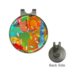Background Colorful Abstract Hat Clips With Golf Markers by Nexatart