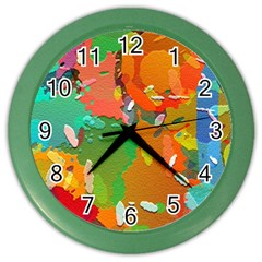 Background Colorful Abstract Color Wall Clocks