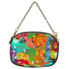Background Colorful Abstract Chain Purses (two Sides)