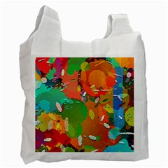 Background Colorful Abstract Recycle Bag (one Side)