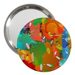 Background Colorful Abstract 3  Handbag Mirrors