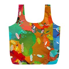 Background Colorful Abstract Full Print Recycle Bags (l)
