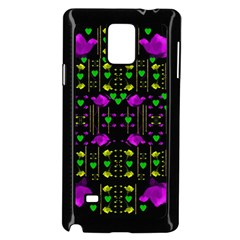Pure Roses In The Rose Garden Of Love Samsung Galaxy Note 4 Case (black) by pepitasart