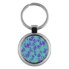 Electric Palm Tree Key Chains (round)  by jumpercat