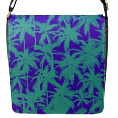 Electric Palm Tree Flap Messenger Bag (s) by jumpercat