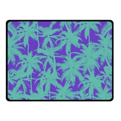 Electric Palm Tree Double Sided Fleece Blanket (small)  by jumpercat