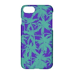 Electric Palm Tree Apple Iphone 7 Hardshell Case by jumpercat