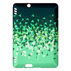 Green Disintegrate Kindle Fire Hdx Hardshell Case