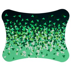 Green Disintegrate Jigsaw Puzzle Photo Stand (bow) by jumpercat