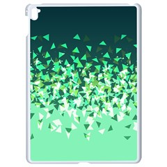 Green Disintegrate Apple Ipad Pro 9 7   White Seamless Case