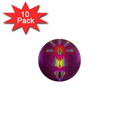 Abstract Bright Colorful Background 1  Mini Magnet (10 Pack)