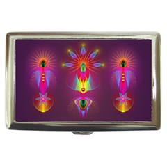 Abstract Bright Colorful Background Cigarette Money Cases by Nexatart