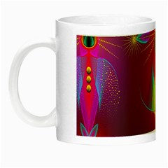 Abstract Bright Colorful Background Night Luminous Mugs