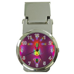 Abstract Bright Colorful Background Money Clip Watches
