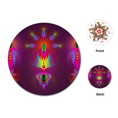 Abstract Bright Colorful Background Playing Cards (round)
