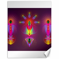 Abstract Bright Colorful Background Canvas 12  X 16