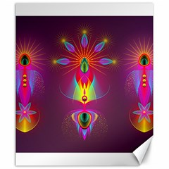Abstract Bright Colorful Background Canvas 20  X 24