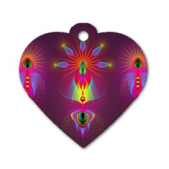 Abstract Bright Colorful Background Dog Tag Heart (one Side) by Nexatart