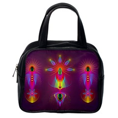 Abstract Bright Colorful Background Classic Handbags (one Side)